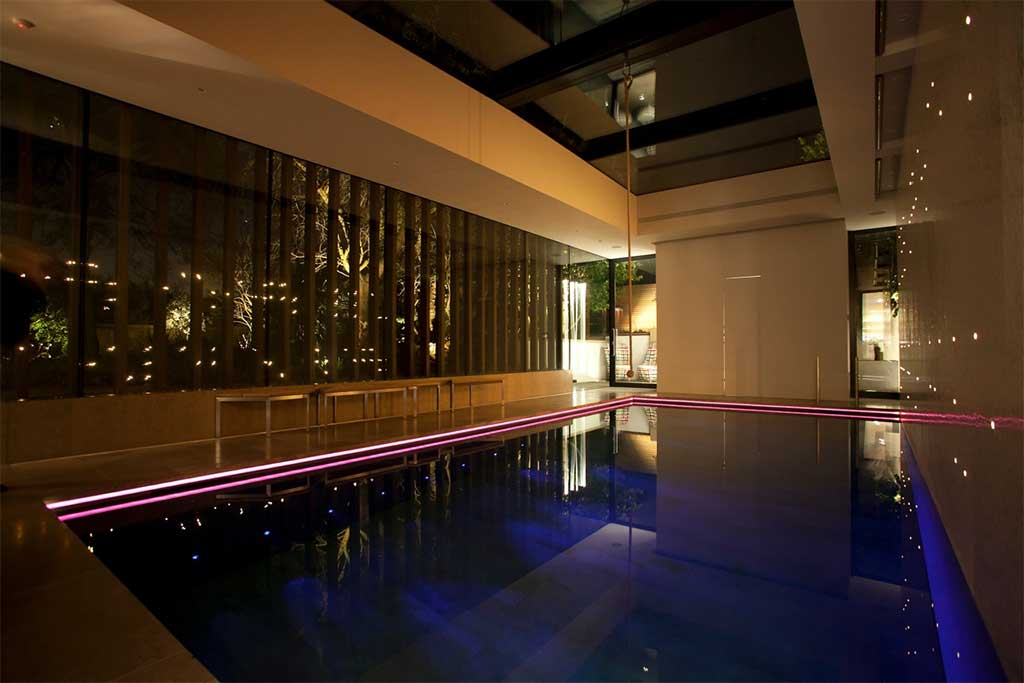 private pool 4 fibre optic lighting